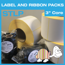 """Label and Ribbon Packs - 101.64mm x 127mm - Permanent Adhesive - 3"""" Core"""