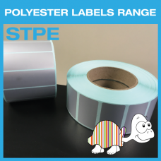 Silver Polyester Labels, 25.4mm x 12.7mm
