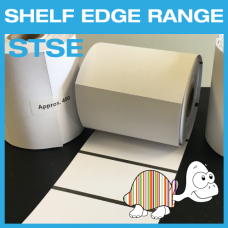 "Shelf-Edge Tags - Thermal Transfer - 75mm x 38mm - 1"" Core"